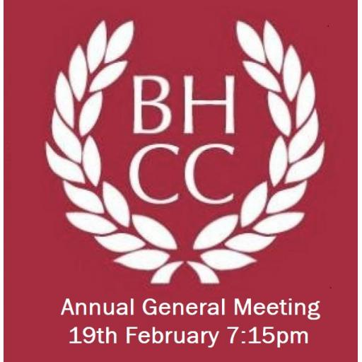 2019 Annual General Meeting - Tuesday 19th February 7:15pm