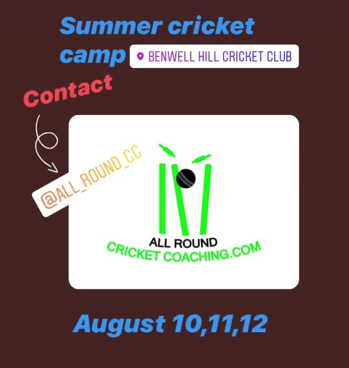 Summer Junior Coaching Camp at Benwell Hill  from 10-12 August
